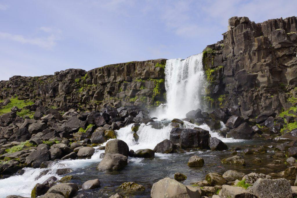 Öxarafoss in Nationalpark Thingvellir in Island
