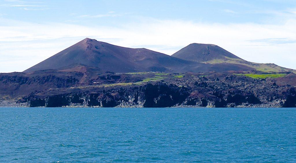 Lavafeld des Vulkans Eldfell auf den Westmänner Inseln