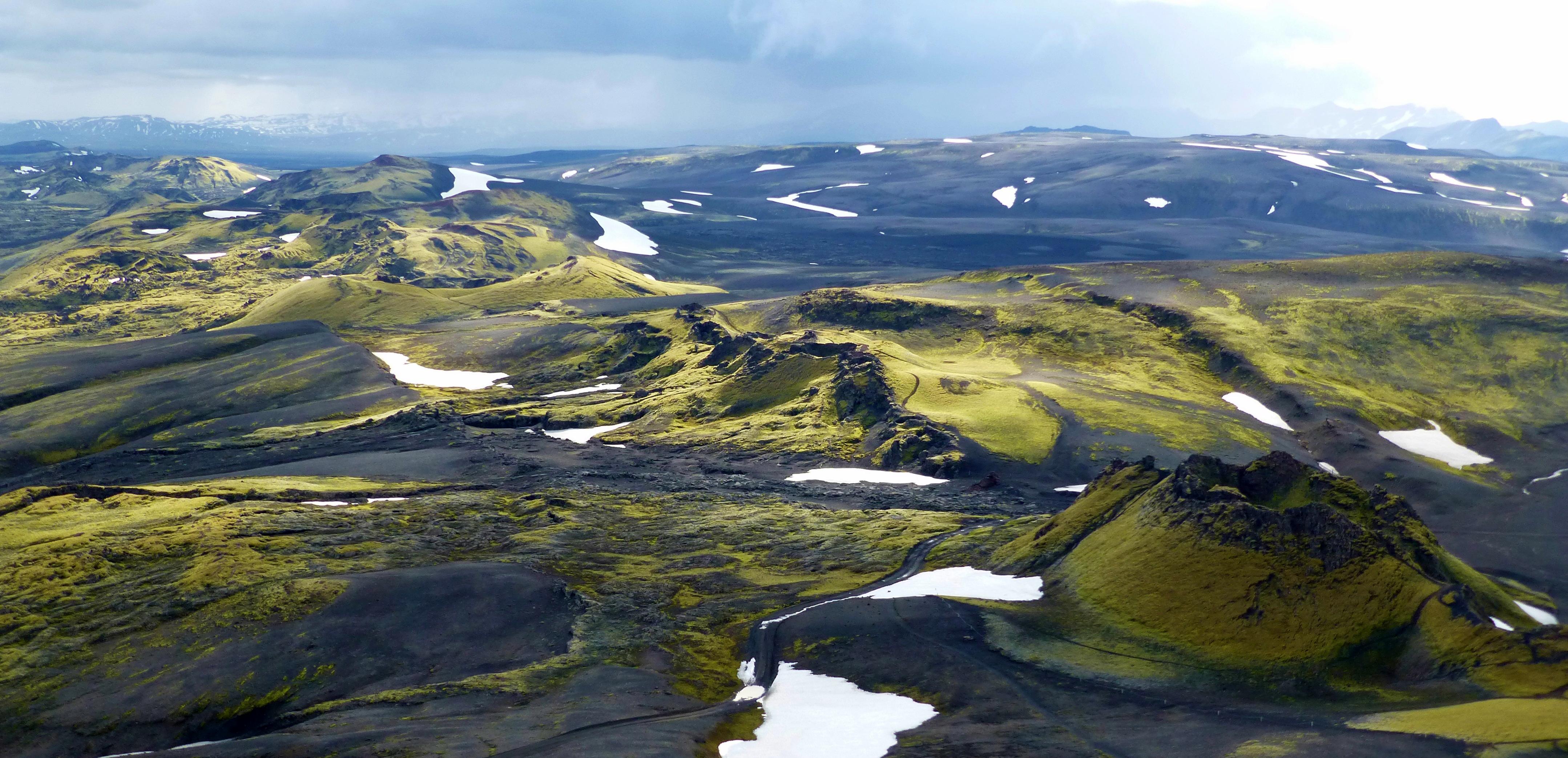 Das isländische Hochland im Süden, Laki Vulkankrater