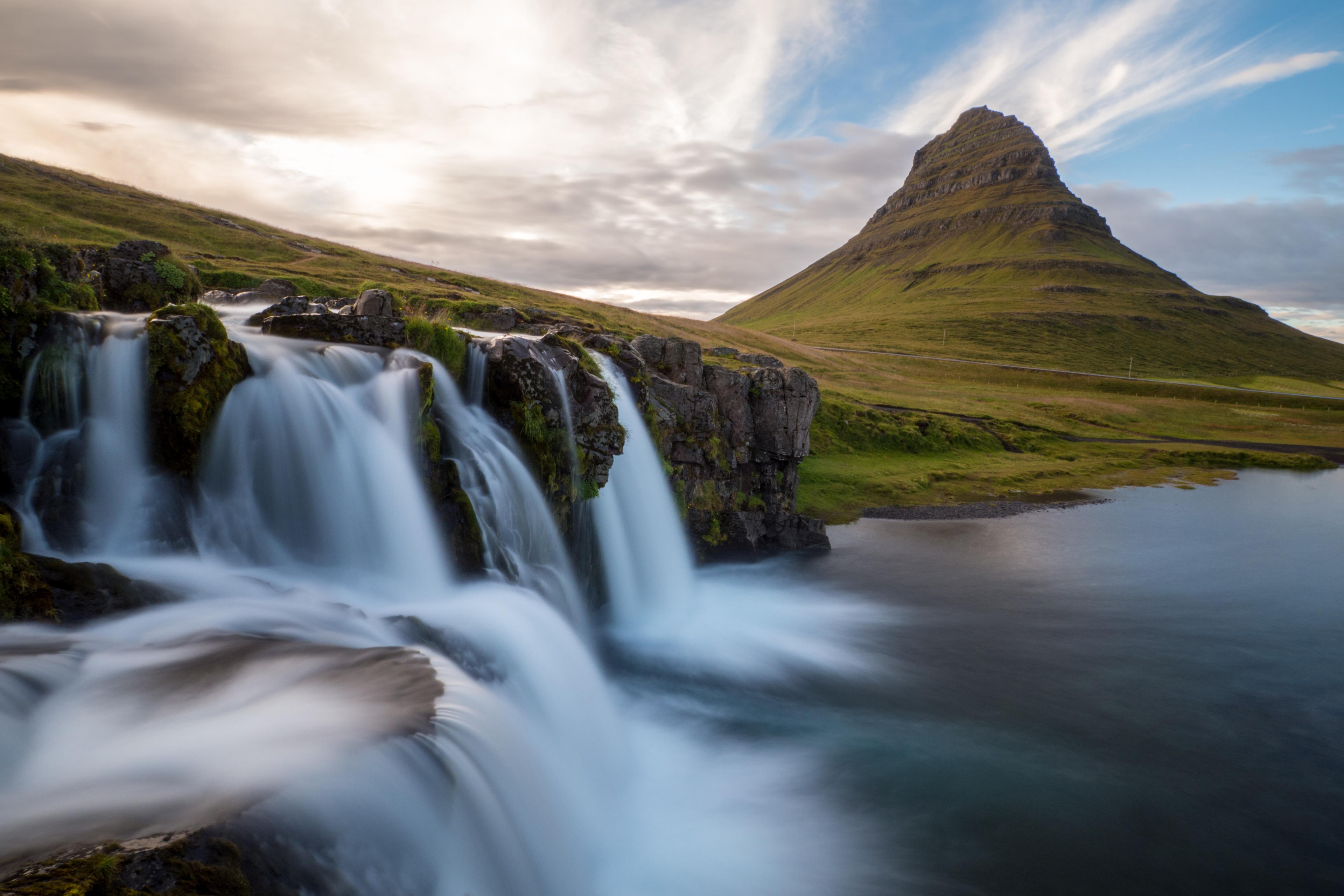 Island, Nordisland, Westfjorde, Kirkjufell, Wasserfall, Landschaft, Natur, 2015