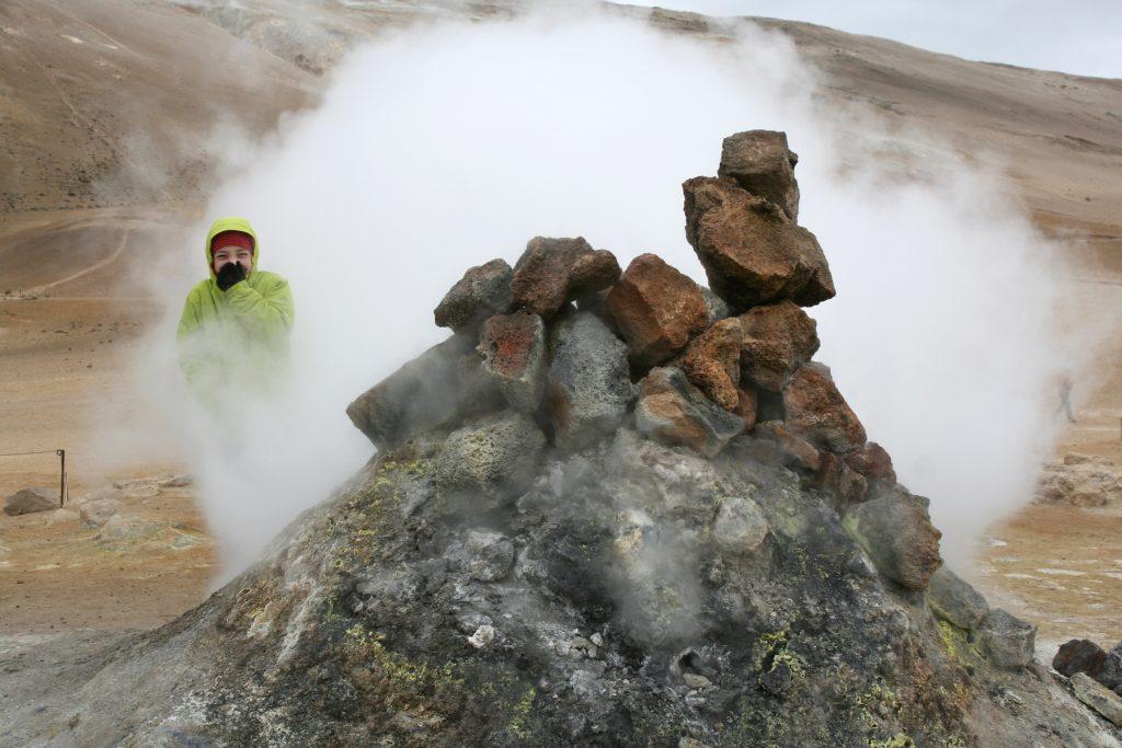 Island, Nordisland, Myvatn, Hochthermalgebiet Namafjall, Namaskard, Fumarolen, Geothermie