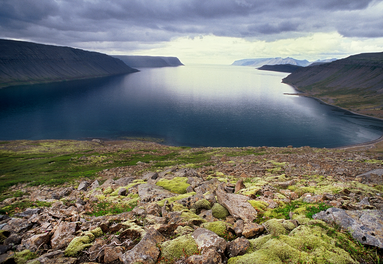 Island, Westfjorde, Arnarfjoerdur, Fjord, Gewitter, Gewitterstimmung, Wolken,