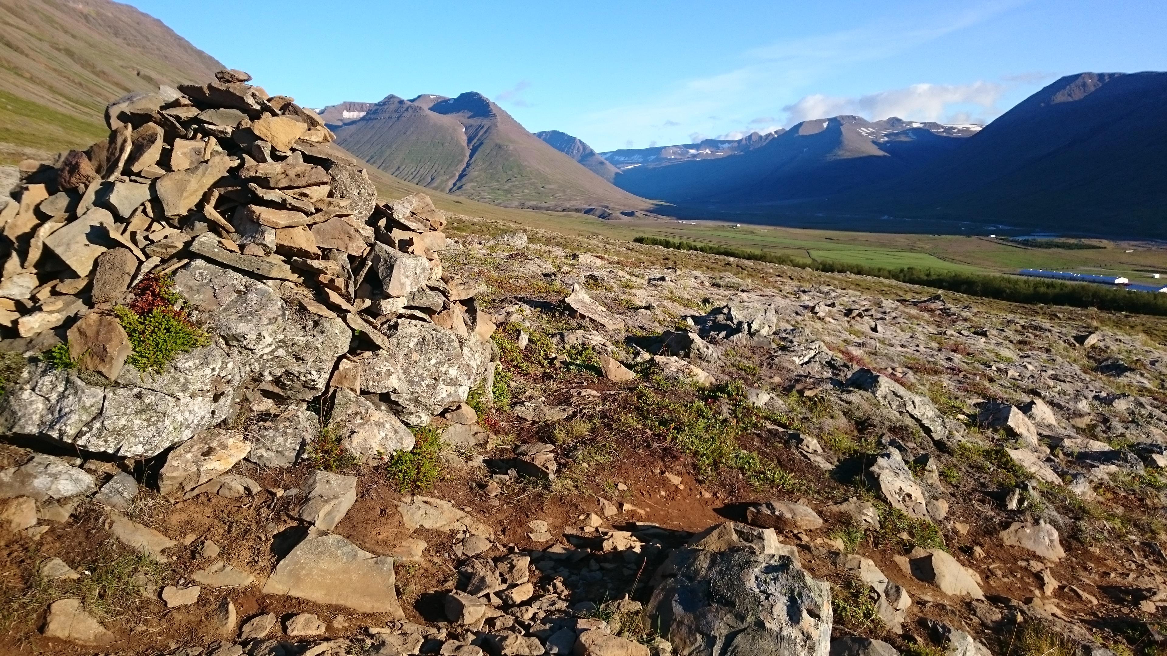 Bergwanderung bei Holar Skagafjördur Nordisland