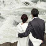 Brautpaar am Gullfoss