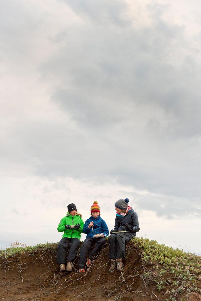 Picknick in Island mit Kindern
