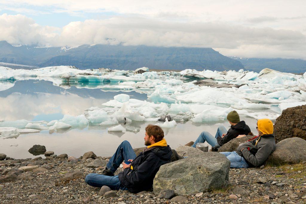 Island, Suedisland, Gletscherlagune, Joekulsarlon, Eis, von der Gletscherzunge Breidamerkurjoekull kalbt der Vatnajoekull in die Lagune, Eisberge, Landschaft, Natur, WerbungPR, 7/2014