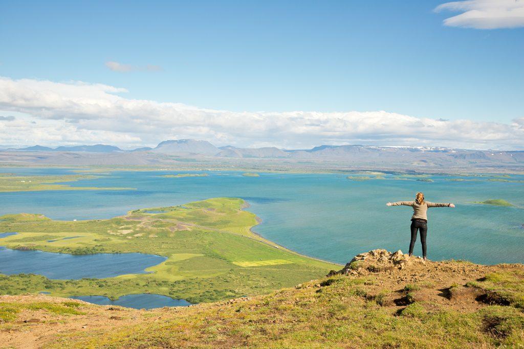 Island, Nordisland, Myvatn, Blick vom Vindbelgjarfjall, Berg, Ausblick, Aussicht, Landschaft, Natur, WerbungPR, 7/2014