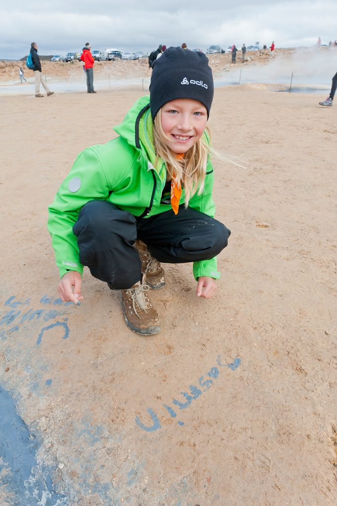 Kind im Hochthermalgebiet Namafjall