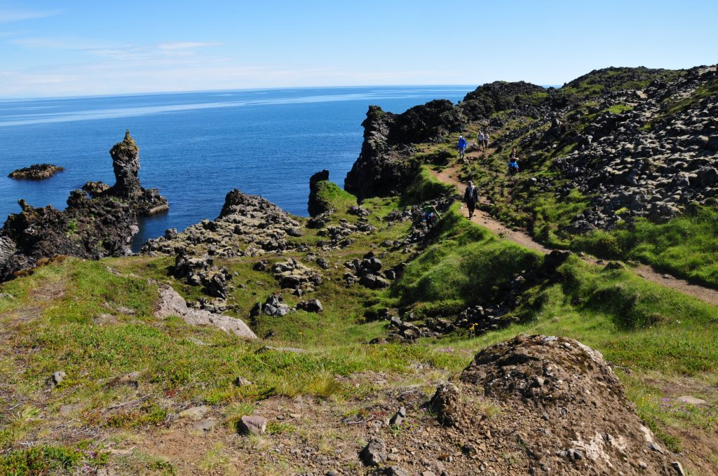 Felsformationen auf der Djúpalónssandur Snaefellsnes Halbinsel Westisland