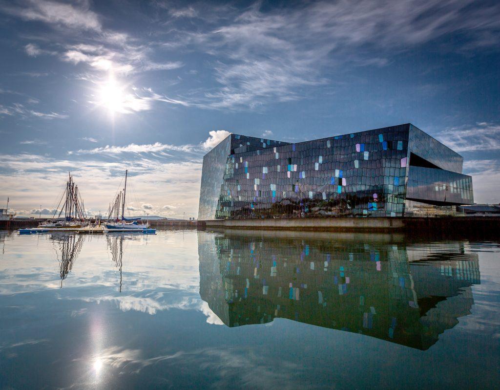 Island, Suedisland, Reykjavik, Konzerthalle Harpa, Design, architektur