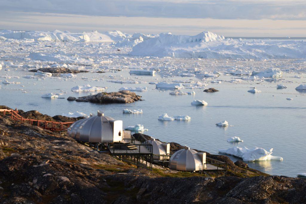 Iglo von außen - Ilulissat, Hotel Arctic