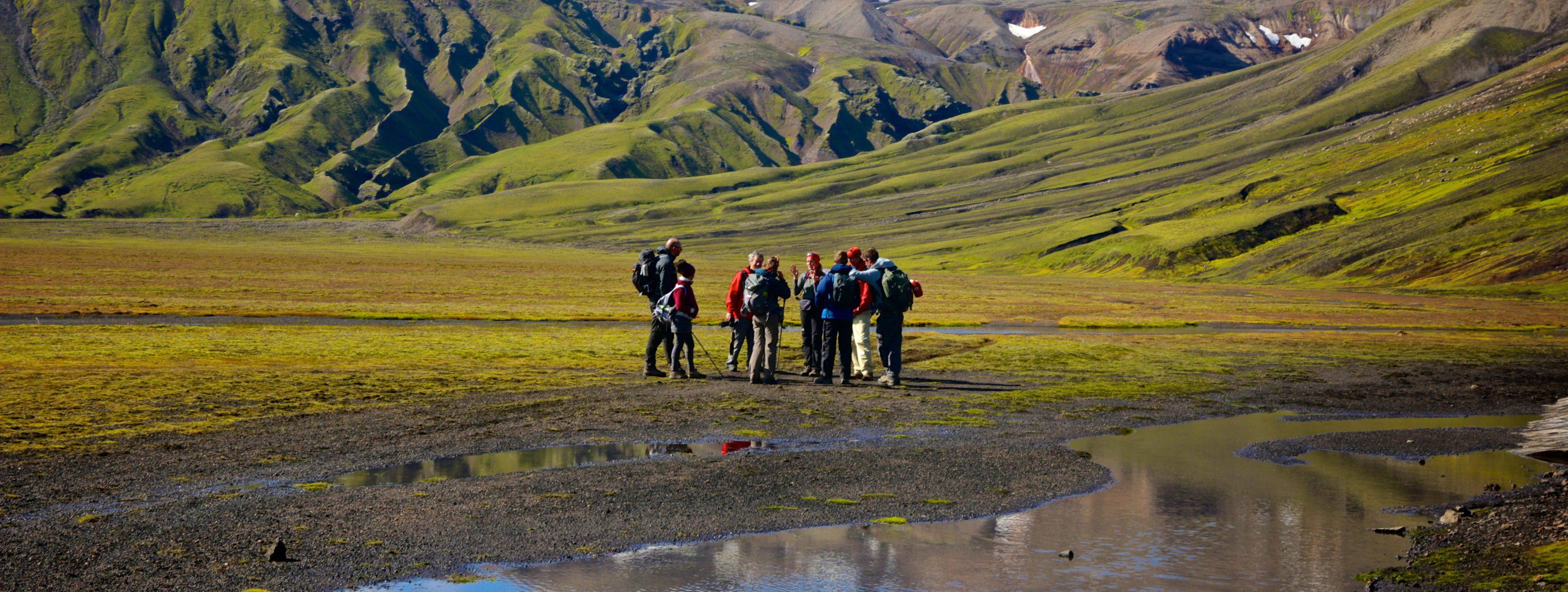 Wanderer im isländischen Hochland