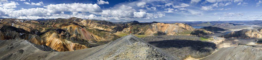 Island, Suedisland, Landmannalaugar, Hochland, bunte Berge, Panorama, Aussicht, Ausblick