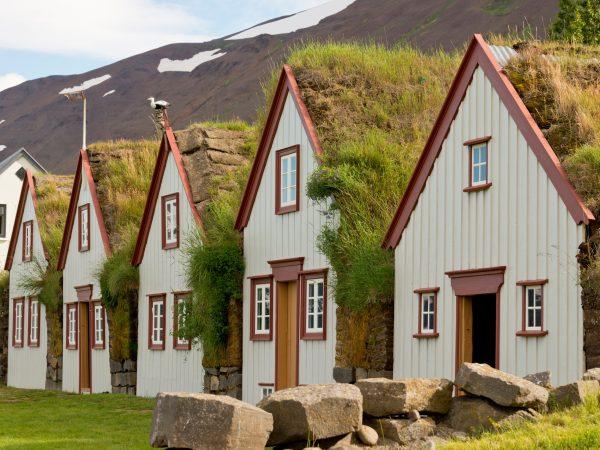Grassodenhäuser in Nordisland im Heimatmuseum Laufas
