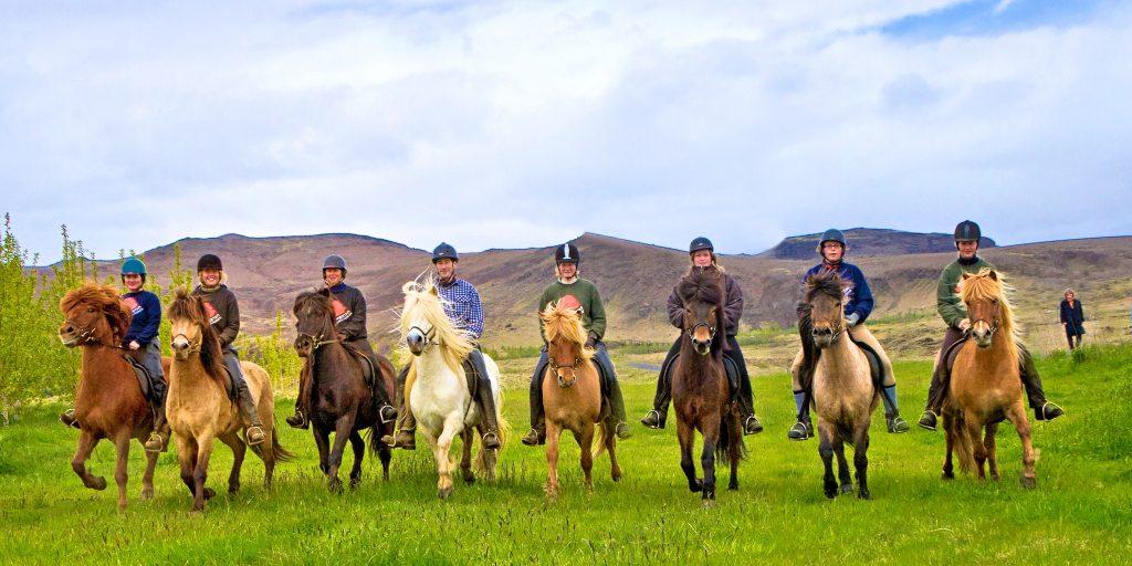 Island, Suedisland, Islandpferde, Pferde, Reiter, reiten, Ausritt
