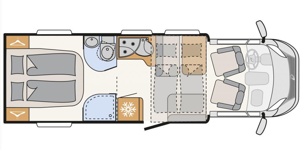 McRent Comfort Plus Wohnmobil Grundriss