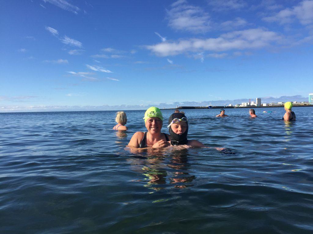 Meeresschwimmen mit Bjarnheidur