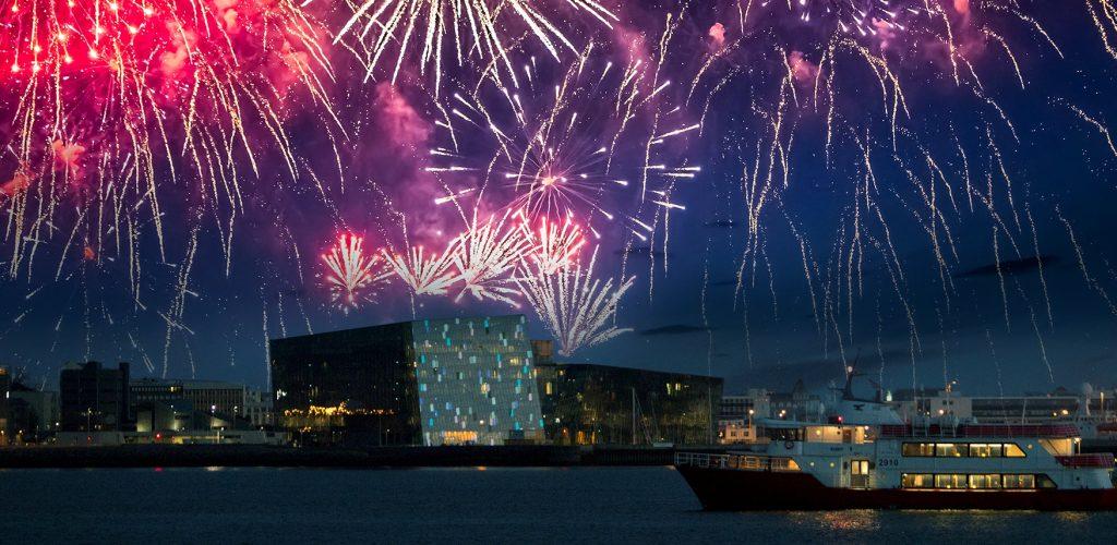 Feuerwerk in Reykjavík