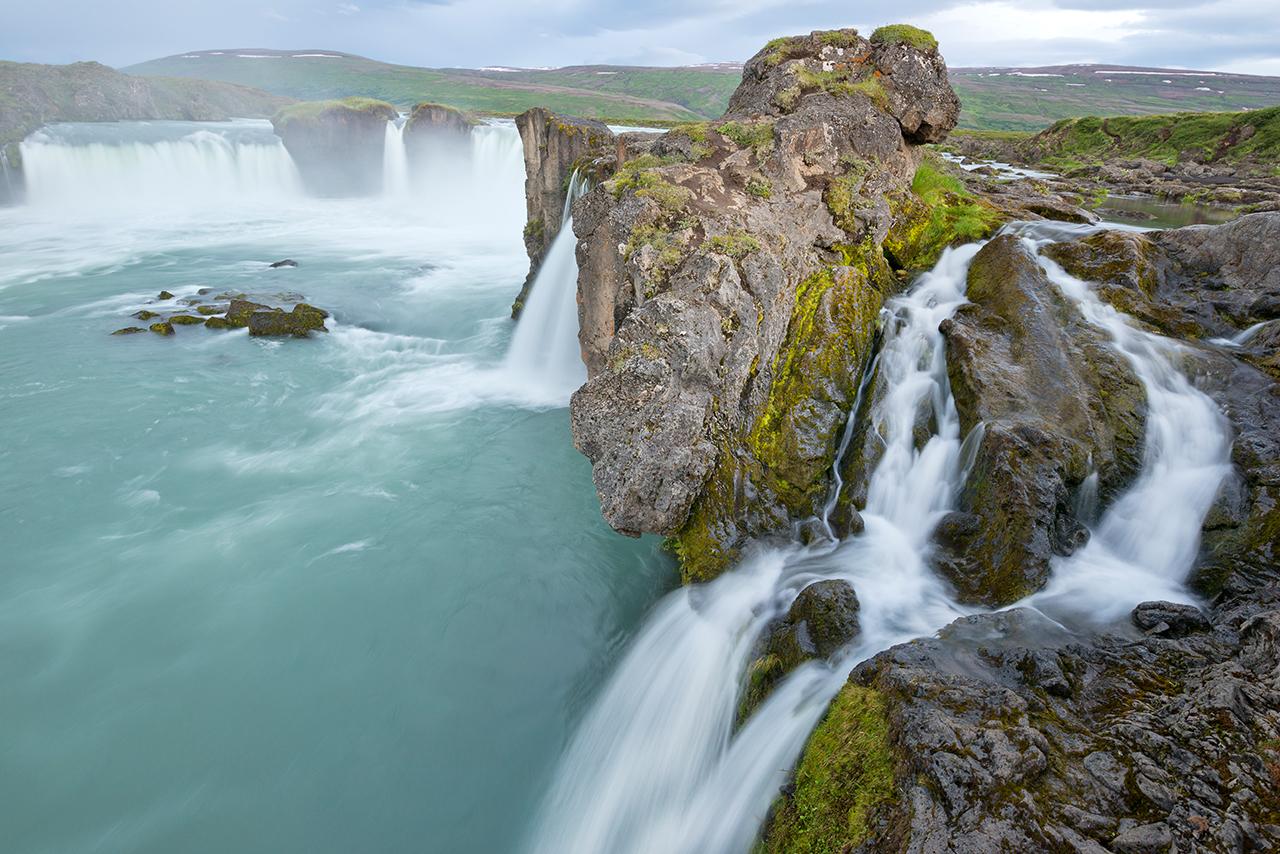 Island, Nordisland, Godafoss, Wasserfall, Goetterwasserfall, Landschaft, WerbungPR, 7/2014