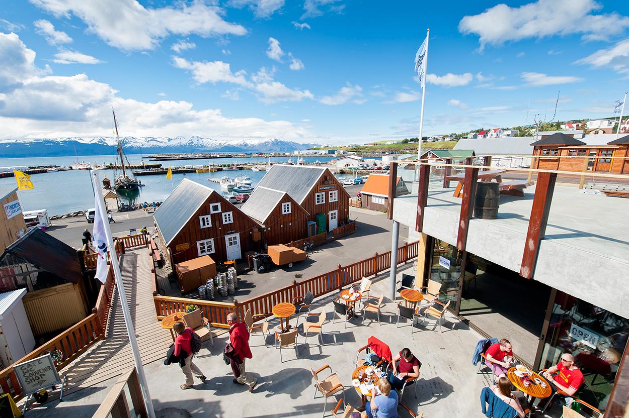 Island, Nordisland, Husavik, Hafen, Fischerboote, Boote, Dorf, Whale Watching Zentrum, WerbungPR, 7/2014