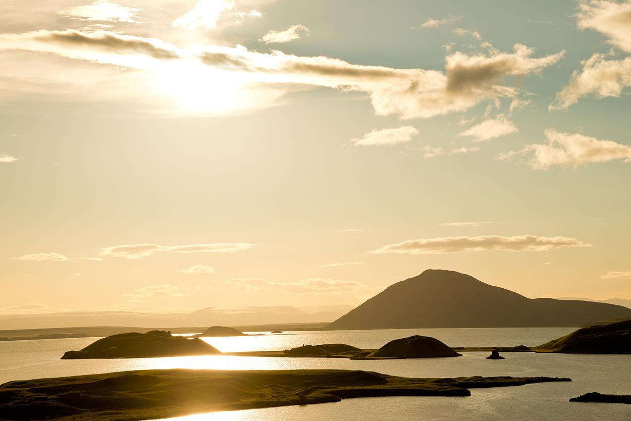 Island, Nordisland, Myvatn, See, Sonnenuntergang, Lichtstimmung, Landschaft, Natur, WerbungPR, 7/2014