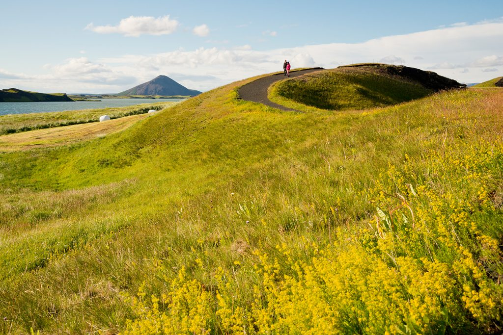 Island, Nordisland, Myvatn, Skutustadir, Pseudokrater, Vulkanismus, Wanderweg, wandern, Wanderer, Landschaft, Natur, WerbungPR, 7/2014