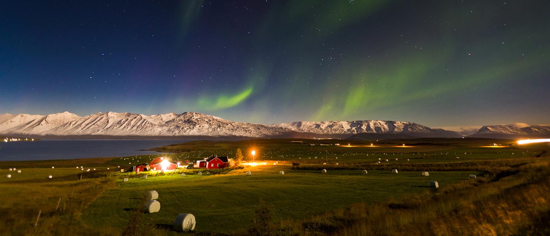 Island, Nordlicht, Winter, Nordisland