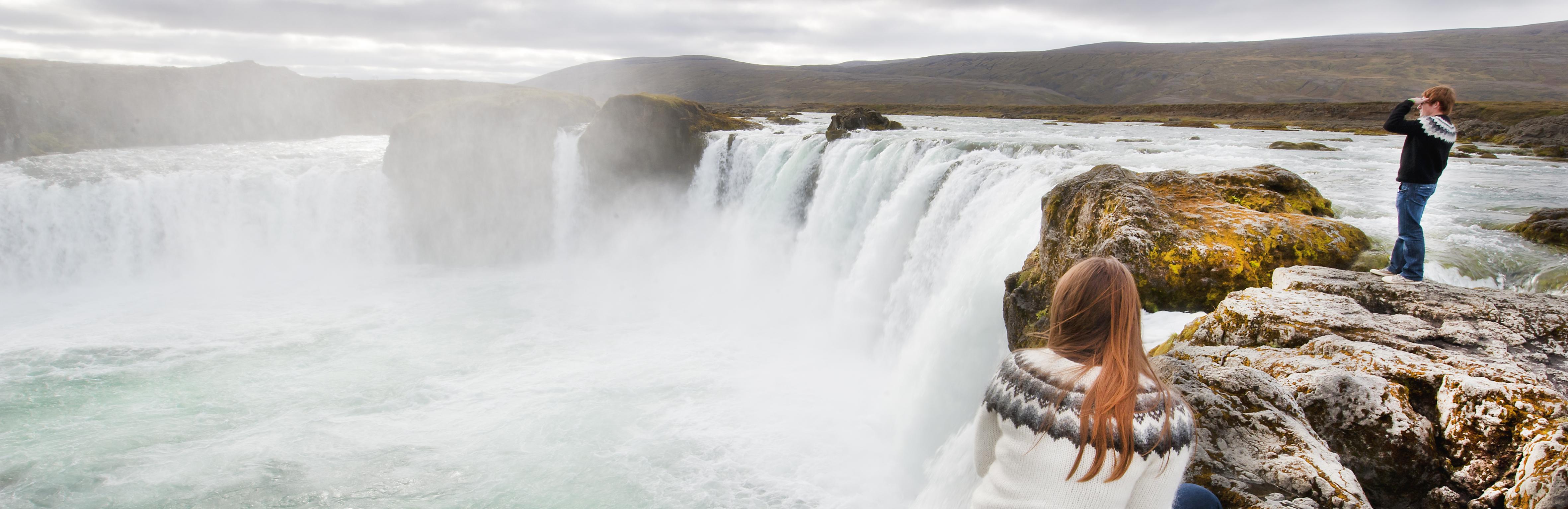 Wasserfall Godafoss - ein überwältigender Anblick
