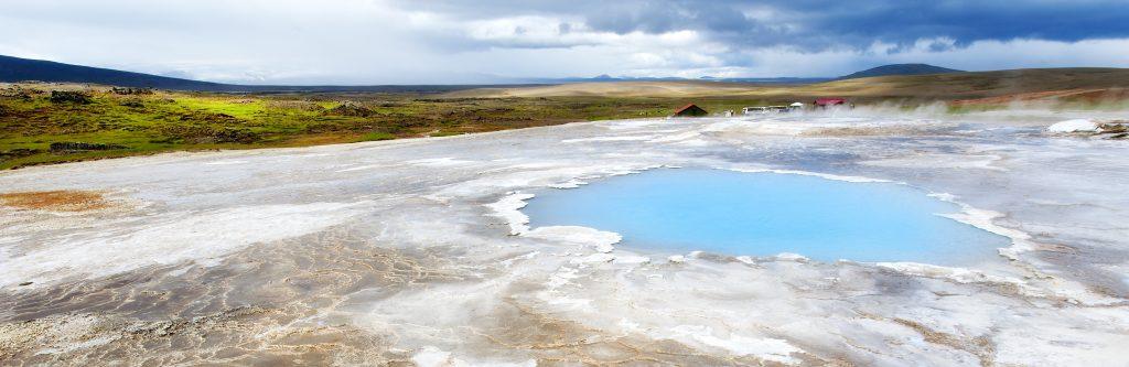 Europa, Skandinavien, Island, Hveravellir, Hochthermalgebiet, Geothermische Energie, Sinter, Sinterablagerungen, blaues Auge,