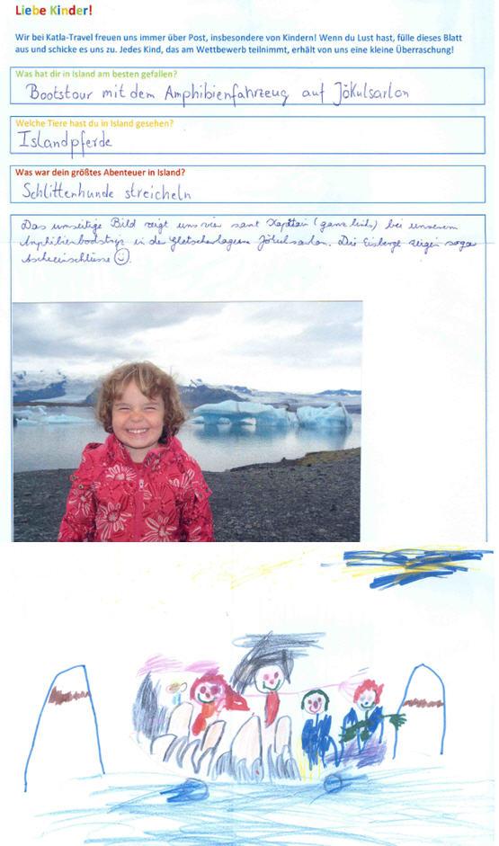 Familienbild in Island gemalt von Philina