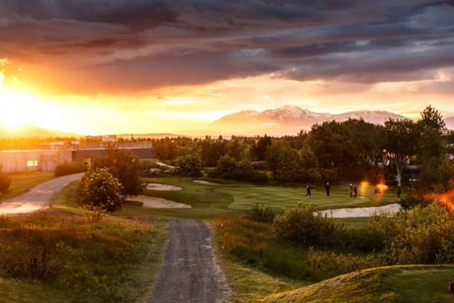 Golfen in Akureyri, Nordisland