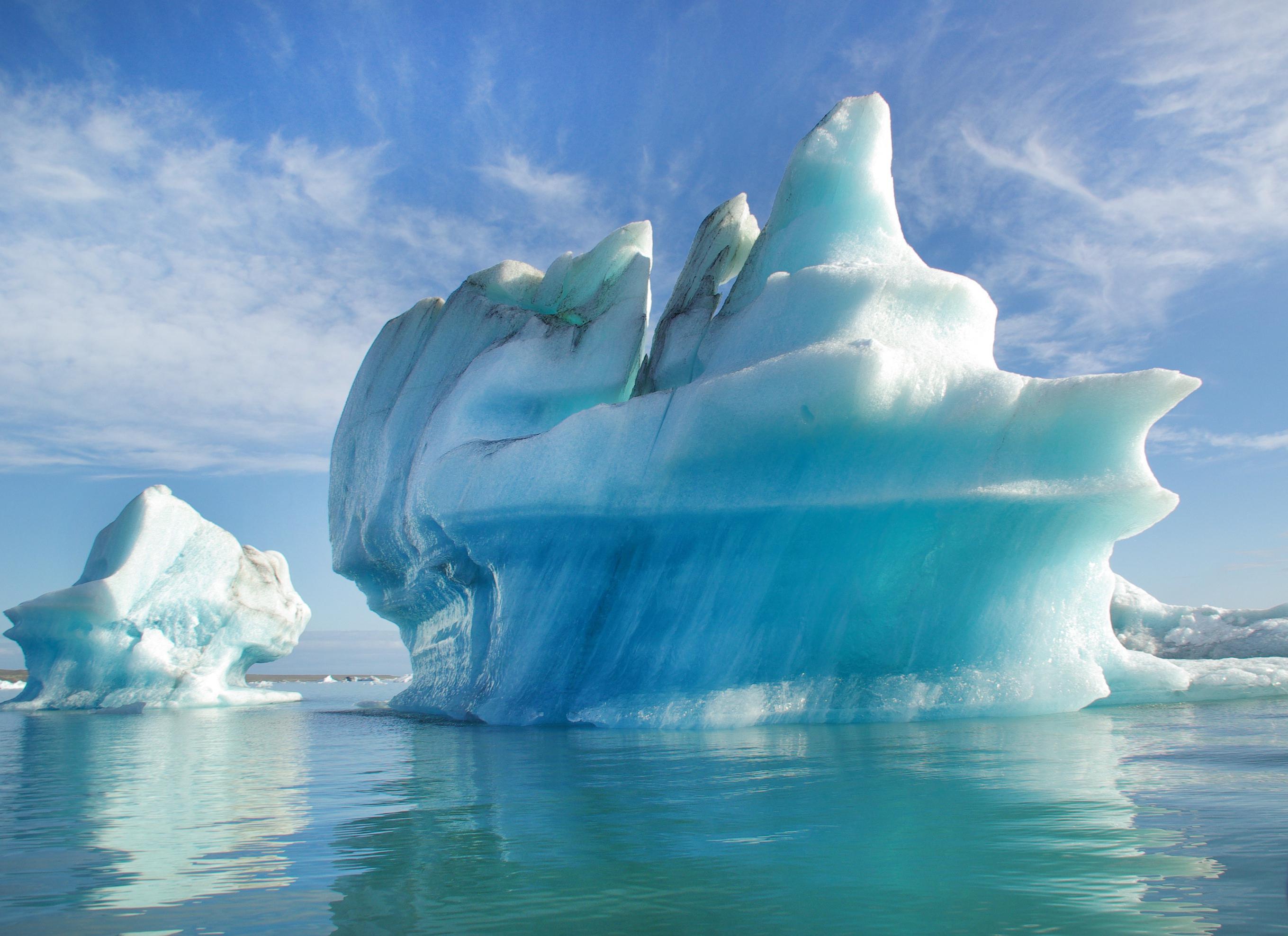 Europa, Island, Suedisland, Gletscherlagune Joekulsarlon, Eisberg, Eis, Landschaft, Natur, 8/2014