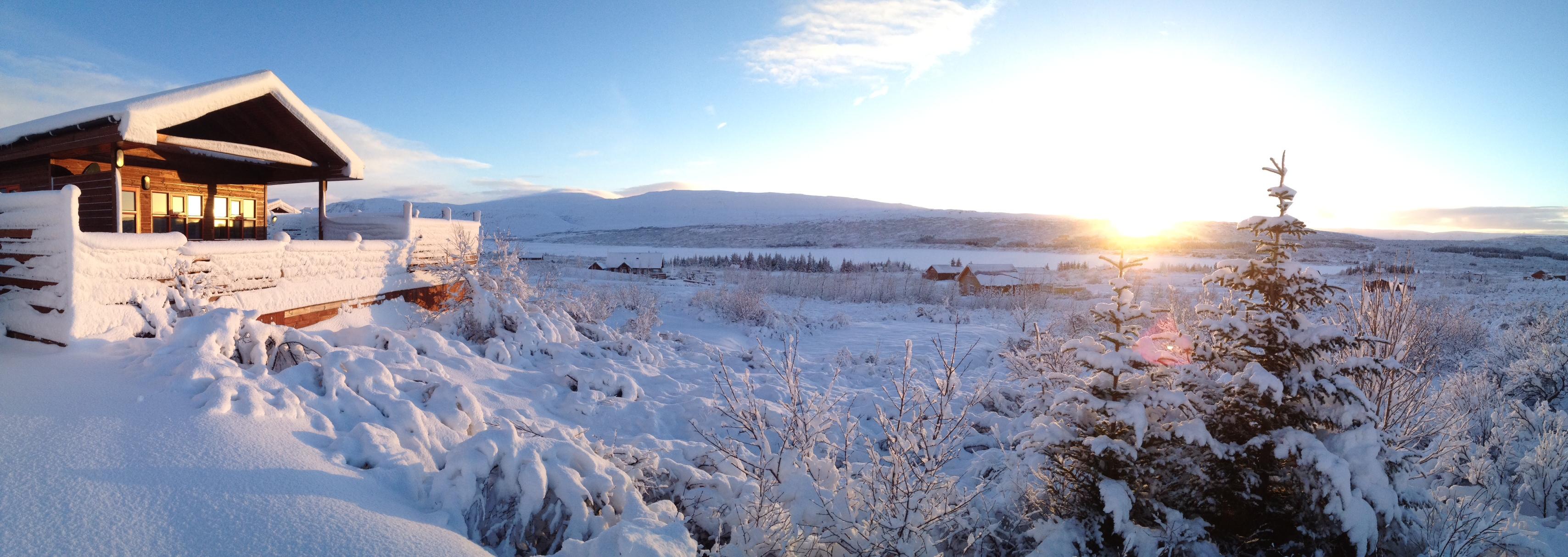 Uppsalir Ferienhaus winter