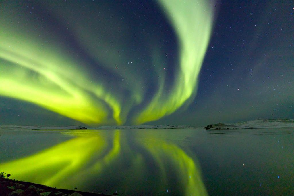 Island, Nordlicht, Winter