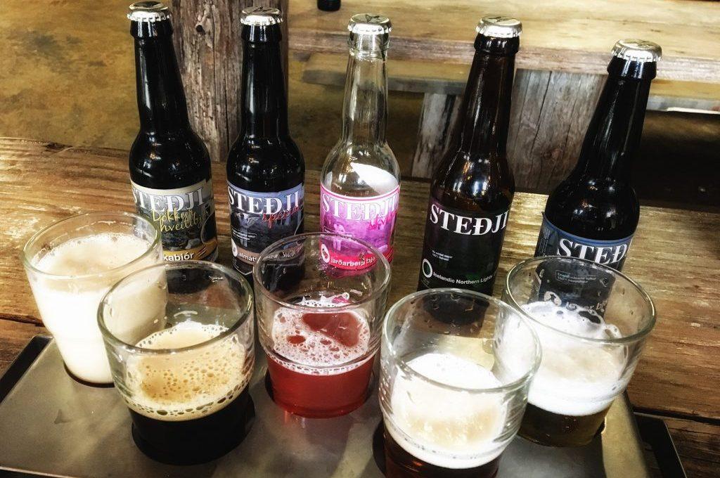verschiedene Biere aus Island