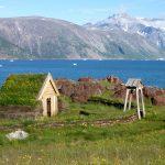 Historische Siedlung Brattahlid in Südgrönland