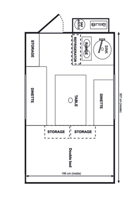 Grundriss eines Wohnmobils