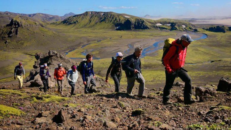 Gruppenwanderung am vulkanischen Berg Strutur