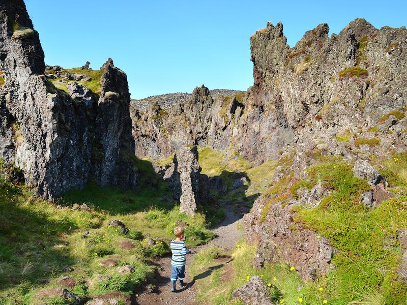 Felsenlabyrinth in Island
