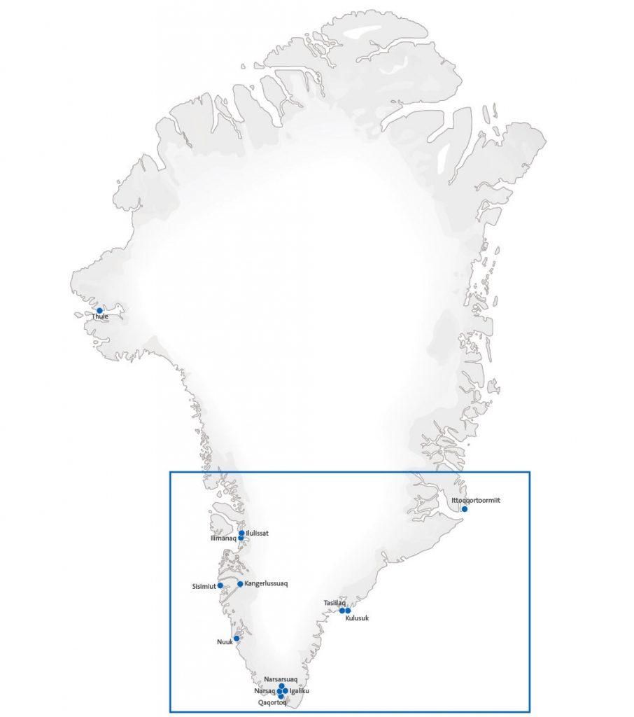 Karte von Grönland