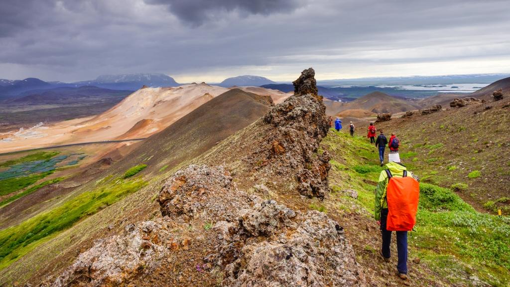 wandern in Island bei einer Gruppenreise in Island