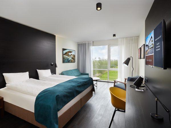 Ansicht vom Superior Zimmer im Hotel Örk in Südisland