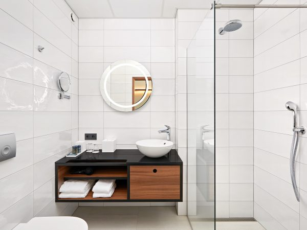 Ansicht vom Badezimmer des Superior Zimmer im Hotel Örk in Südisland