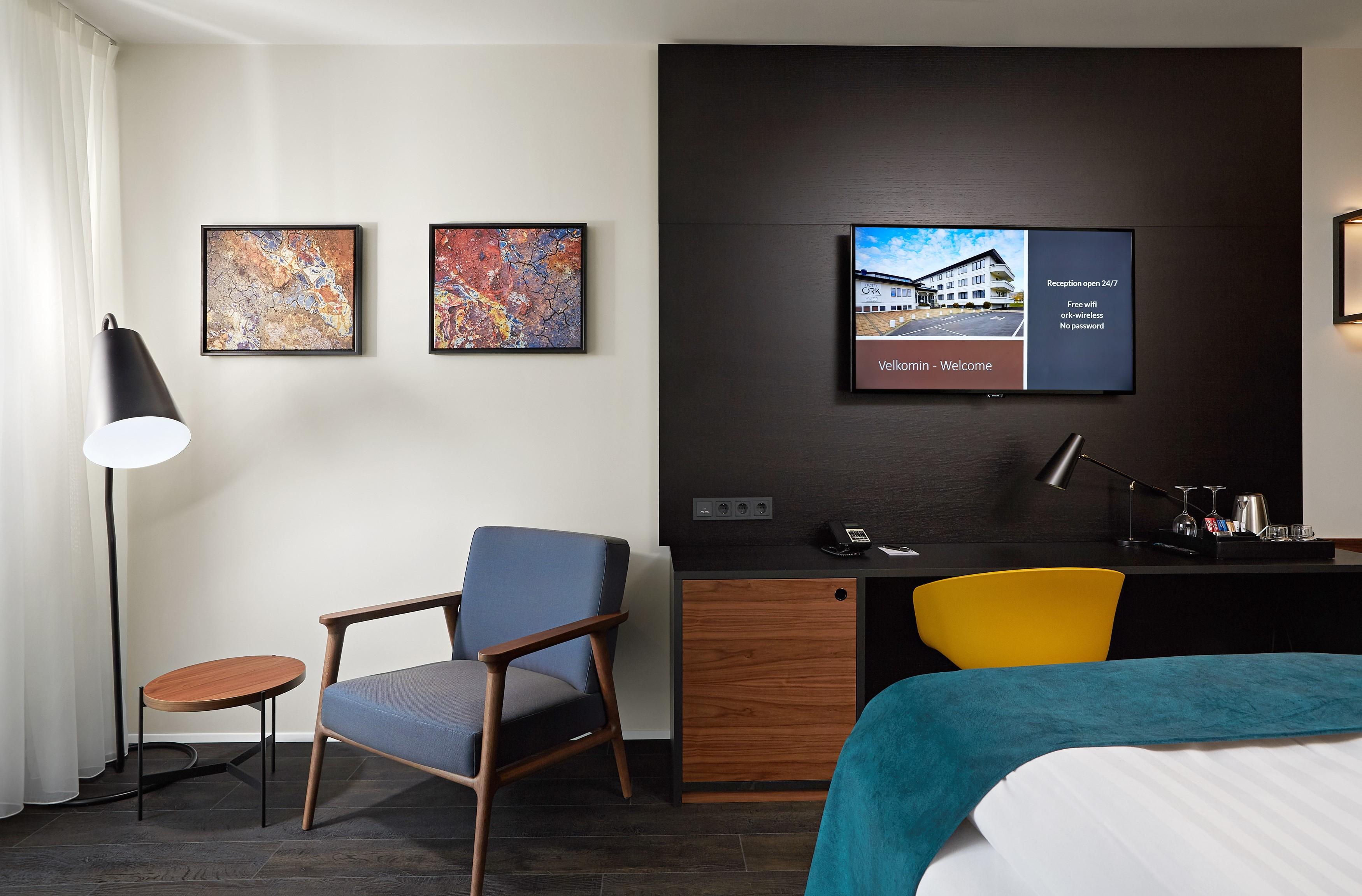 Ansicht eines Superiorzimmer im Hotel Örk in Südisland