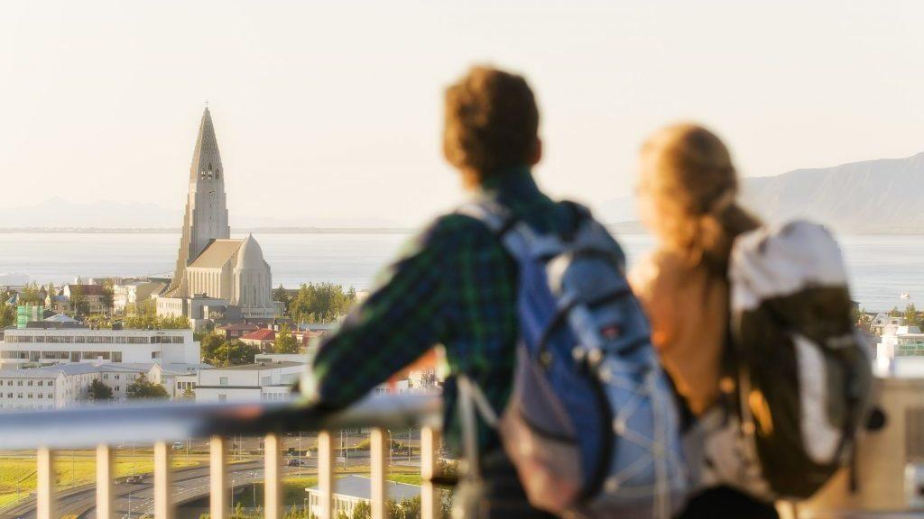 Ausblick auf die Hallgrimskirche in Reykjavik