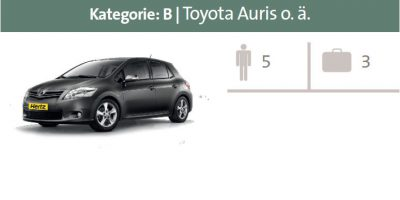 Mietwagen Kategorie B