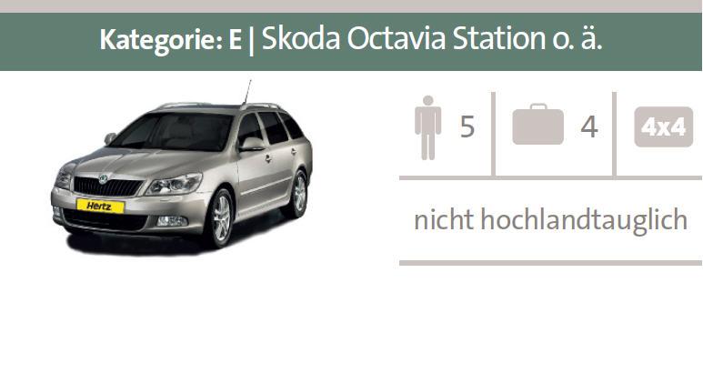 Mietwagen-Kategorie E: Skoda Octavia Station oder ähnliche