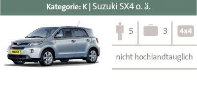 Mietwagen Kategorie K