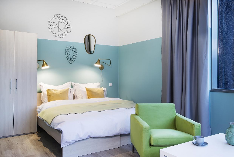 Icelandic Apartment in Reykjavik Inneneinrichtung Bett