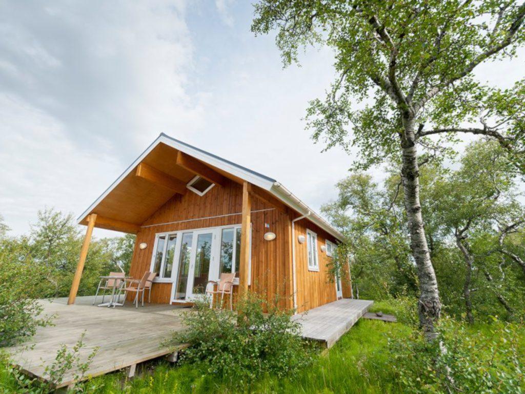 Familienreisen-geeignetes Ferienhaus mit Hot Pot in Island